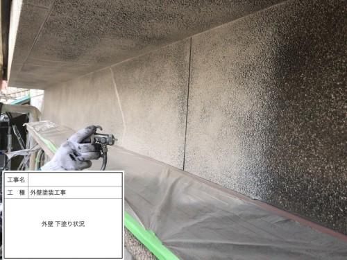むろや外壁改修工事外壁下塗り状況3
