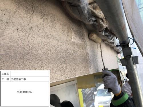 むろや外壁改修工事外壁塗装状況1